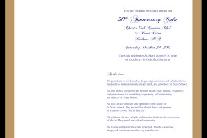 Gala Invitation, Inside